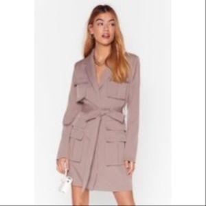 Nasty Gal Utility Belted Blazer Dress